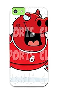 For Iphone 5c Protective Case, High Quality For Iphone 5c Sport Clip Art Of A Devil Playing Basketball With A Red Number 6 Skin Case Cover