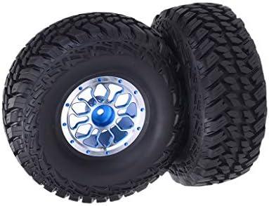 ラバー ホイールタイヤ 1/10 RC モデル カーに対応 アップグレードパーツ 交換用 2個 全3色 - 青
