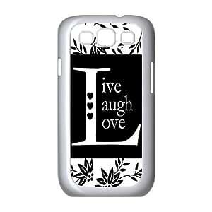 custom samsung galaxy s3 i9300 Case, Live Laugh Love cell phone case for samsung galaxy s3 i9300 at Jipic (style 1)