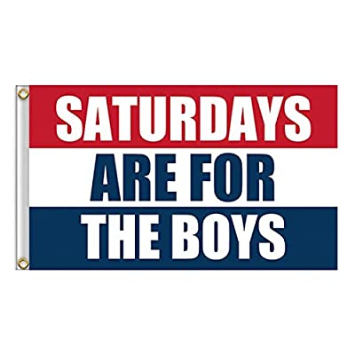 seogol Saturday Boys Flag 3X5 Feet for College Football Games Fraternities Parties Dorm Room Indoor and Outdoor SAFTB