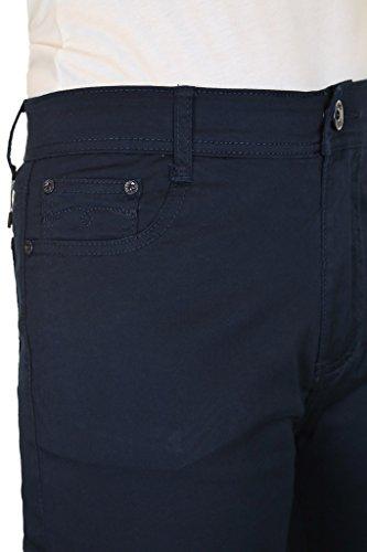 Dettagli Stretch Ritagliate Jeans Gamba Diamante Con Capri Ice Marina wYxt56q