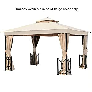 Garden Winds Replacement Canopy for The 10′ x 12′ Belcourt Gazebo – 350
