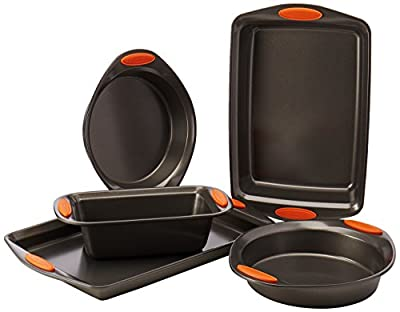 Rachael Ray Oven Lovin' Non-Stick 5-Piece Bakeware Set, Orange from RAAY7