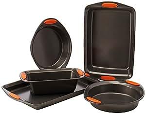 Rachael Ray Oven Lovin' Non-Stick 5-Piece Bakeware Set, Orange