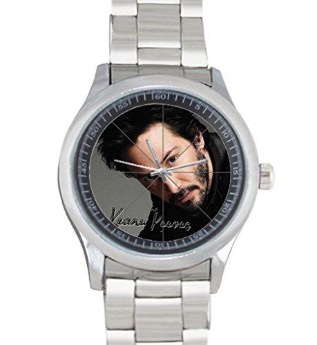 Dude-Custom-Keanu-Reeves-Mens-Stainless-Steel-Watch-Sliver-Metal-custom-watches