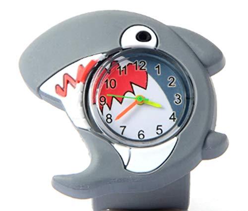 - AccessCube Animal Children Analog 3D Watch Boys Girls Child Rubber Silicon Sport Electronic Wristband Watch Kid Clock (Shark)