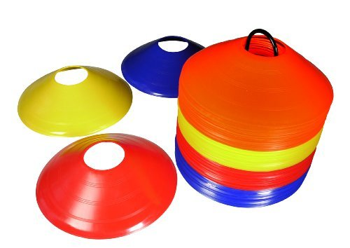 Charles Bentley 50 Multi Coloured Boundary Markers Space Disc Training Markers Cones With Stand by Charles Bentley by Charles Bentley