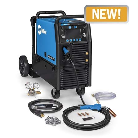 Miller 951766 Millermatic 255 MIG/Pulsed MIG Welder w/EZ-Latch Running Gear- 208/240V