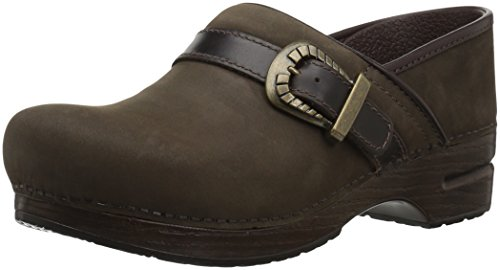Dansko Women's Pammy Clog, Brown Milled Nubuck, 39 M EU (8.5-9 (Brown Single Arch)