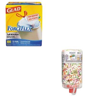 KITCOX70427MLX6645 - Value Kit - Moldex-metric, Inc. SparkPlugs PlugStation Earplug Dispenser (MLX6645) and Glad ForceFlex Tall-Kitchen Drawstring Bags (COX70427)