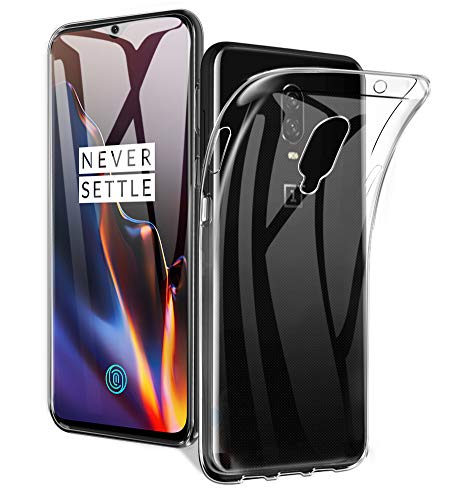 AVIDET Oneplus 6T Case, Crystal Clear Soft Thin Anti-Scratches Cover Oneplus 6T (Transparent)