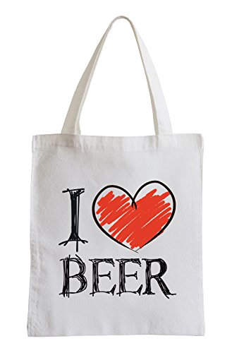 I Love Beer Fun sacchetto di iuta