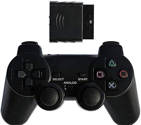 Ps2 Gamepad Inalámbrico 2.4g Controlador Inalámbrico De Doble Vibración Puede Convertir La Computadora Pc Color Universal Mango Transparente Negro
