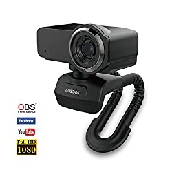 Ausdom Streaming Full HD 1080P Webcam with Microphone for Mac,Video Calling and Recording USB Webcam for Computer Laptop or Desktop,360-Degree Swivel,Plug and Play