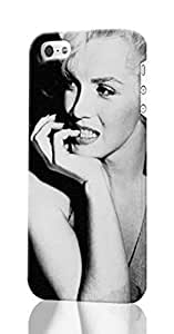diy zhengMarilyn Monroe Pattern Image - Protective 3d Rough Case Cover - Hard Plastic 3D Case - For iPhone 6 Plus Case 5.5 Inch