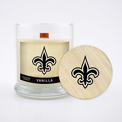 (Worthy Promo NFL New Orleans Saints Vanilla Scented Candle, 8 oz, Clear)