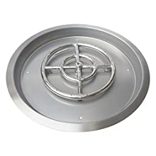 """Stanbroil Stainless Steel Round Drop-in Fire Pit Pan with 18"""" Burner Ring, 25-Inch"""