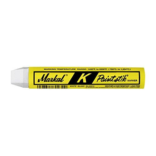 Billet Marker - Markal 81820 K Paintstik Solid Paint White-Hot Surface Marker (1400 F - 2200 F), White (Pack of 12)
