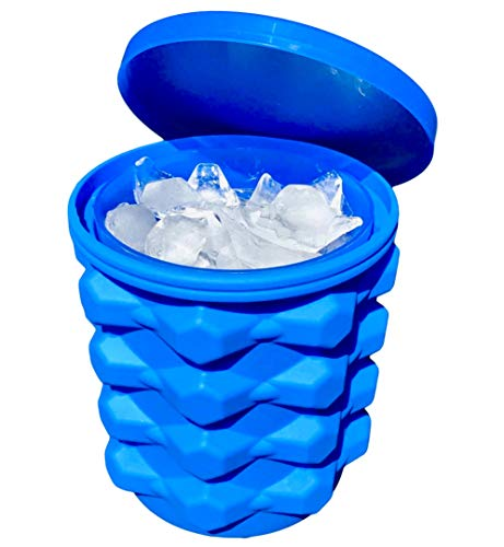 Compact Silicone Ice Tray Bucket - Nugget Ice Cube Trays With Lids - Magic Ice Maker Cup Mini Ice Cube Trays - Silicon Ice Cube Molds For In Freezer Ice Bucket Ice Cube Trays Silicone Cylinder Cooler