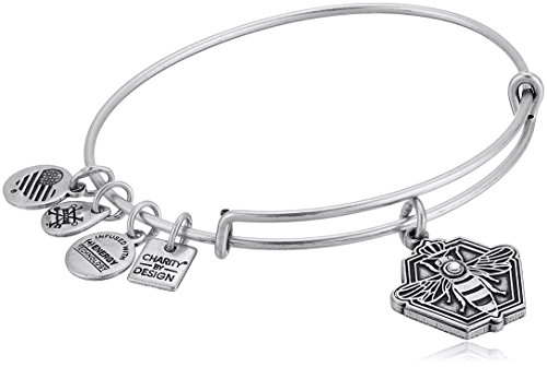 Alex And Ani Charity By Design  Queen Bee Rafaelian Silver Bangle Bracelet