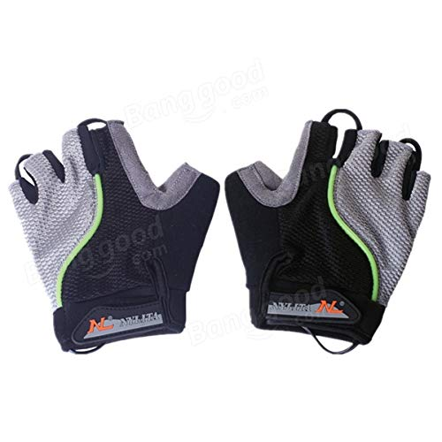 Bicycle Bike Cycling Gloves LED Lighting Half Finger Gloves by Anddoa (Image #6)