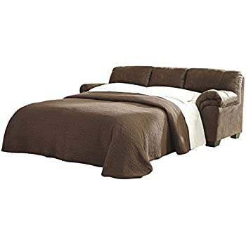 Ashley Furniture Signature Design   Bladen Contemporary Plush Sofa Sleeper    Full Size   Coffee Brown
