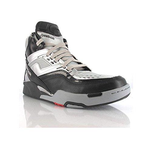Reebok , Chaussures spécial basket-ball pour homme Noir Nero, Argento 25.5