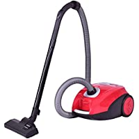 Costway Cyclonic Canister Rewind Corded Adjustable Vacuum Cleaner with Washable Filter