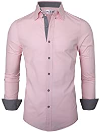 Amazon.com: Pink - Casual Button-Down Shirts / Shirts: Clothing ...