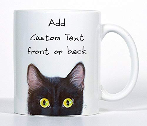Black Tabby Cat - Cat Mugs, Cat Coffee Mug, Black, Orange, Tabby, Siamese or Gray, Personalized Cat Gift
