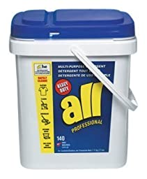 Johnson Diversey 2979232 All Ultra Powder Multipurpose Detergent, 17 lb. Flip-Top Pail, 1/Carton