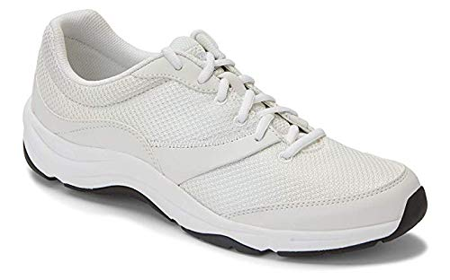 Vionic Women's Action Kona Lace-up Walking Fitness Shoes - Ladies Sneakers with Concealed Orthotic Arch Support 8.5 W US White Multi