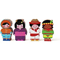 Shumee Wooden Globetrotter Twist & Turn Toy Set (2 Years+) - Set of 4
