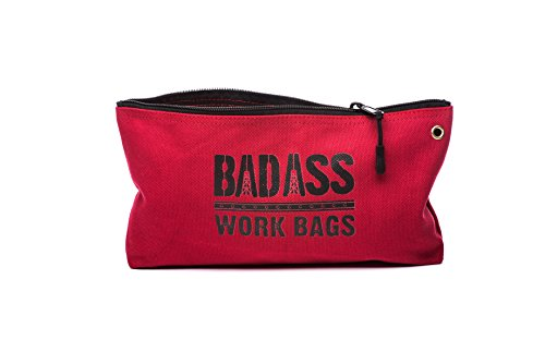 Bad Ass Work Gear | 4-Pack of Heavy Duty 20 oz. Canvas Zipper Tool Bags in 4 colors | Toughest Utility Bag by Bad Ass Work Gear (Image #7)
