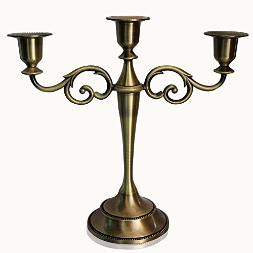 Luckymoo classic metal candle holders pillar candelabra