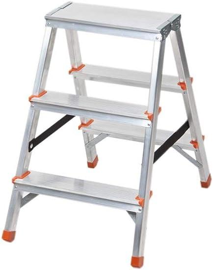 Escalera plegable de aluminio con 3 peldaños por ambos lados ...