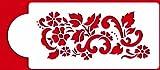 Designer Stencils C435 Floral Explosion Tier 2 Cake Stencil, Beige/semi-transparent