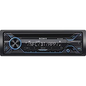 Sony - In-Dash CD/DM Receiver - Built-in Bluetooth with Detachable Faceplate - Black