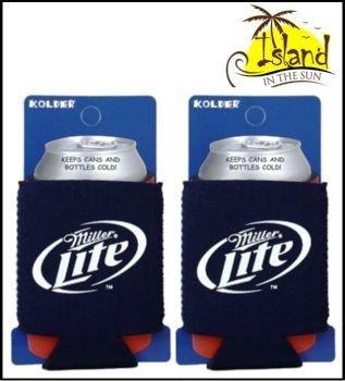 (2) Miller Lite Logo Beer Can Koozies Cooler (Miller Merchandise Lite)
