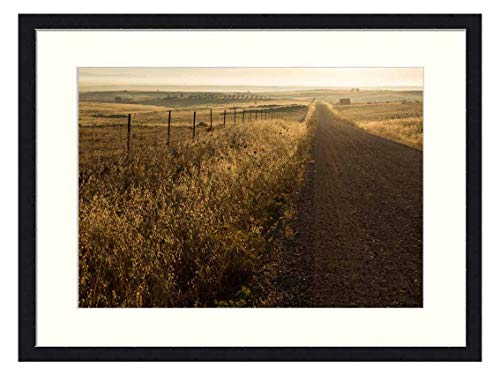 OiArt Art Print Wall Picture (20x14 inch) - Track Dirt Road Way Street Countryside Rural (Best Way To Sell Farmland)