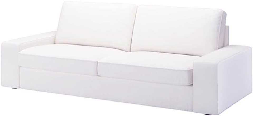 The KIVIK Sofa Bed Cover Replacement is Custom Made for IKEA Kivik Sleeper Slipcover Only. (Cotton White)