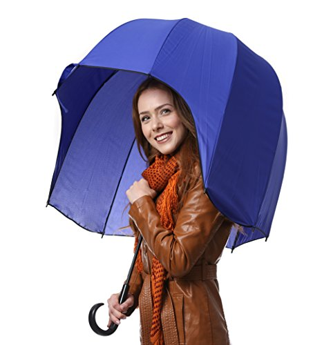 CloudTen Helmet Shaped Umbrella, Blue Dome Umbrella, Windproof Dome Bubble Umbrella, Strong Bubble Umbrella, Sturdy Umbrella ()