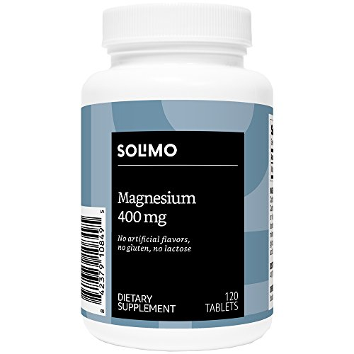 Amazon Brand - Solimo Magnesium 400mg, 120 Tablets, Four Month Supply