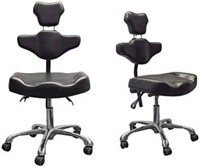 HSJQD Bureau Chaise de Bureau avec Dossier et gaz Rotating Élévateur Selle Tabouret pour l'utilisation dans Les cliniques, Les Salons et Bureaux