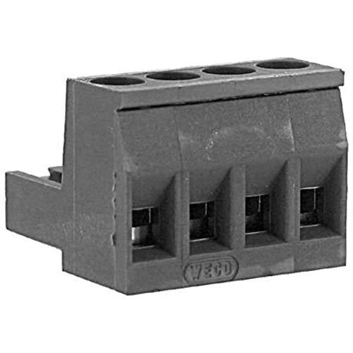 Plug; Plug-in Screw; 4; 26-12; 10; 300 V; 0.197 in; 0.28 in; 2.5 mm2; 2500 V - Pack of 20