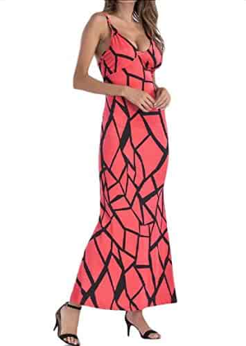 2e5e467559 Andopa Womens Tunic Sling Skinny Fitted Swing Oversized Long Maxi Dress