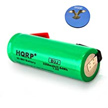 HQRP 49x17mm Battery for Braun Oral-B Triumph ProCare 9900 9500 9400 9000 3731 Toothbrush Replacement + HQRP Coaster