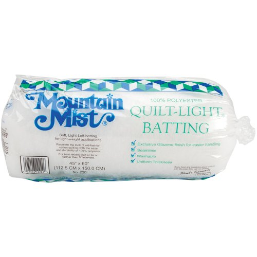 (Mountain Mist Quilt-Light Polyester Batting, Crib/Craft 45-inch-by-60-inch)