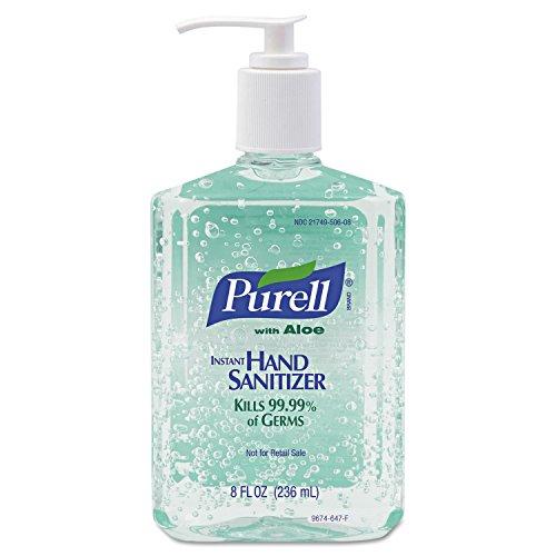 Advanced Instant Hand Sanitizer Gel, Floral Scent, 8 Oz Bottle, 12/carton by GO-JO INDUSTRIES