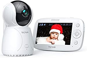 Victure BM45 ベビーモニター見守りカメラ遠隔監視PTZリモコン双方向音声通信暗視機能付きベビーカメラ 出産祝いプレゼント ペット見守り老人看護日本語取扱説明書取得 二年間品質保証 (4.3インチ)